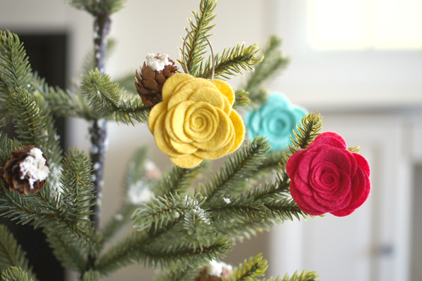 Felt Flower Ornaments