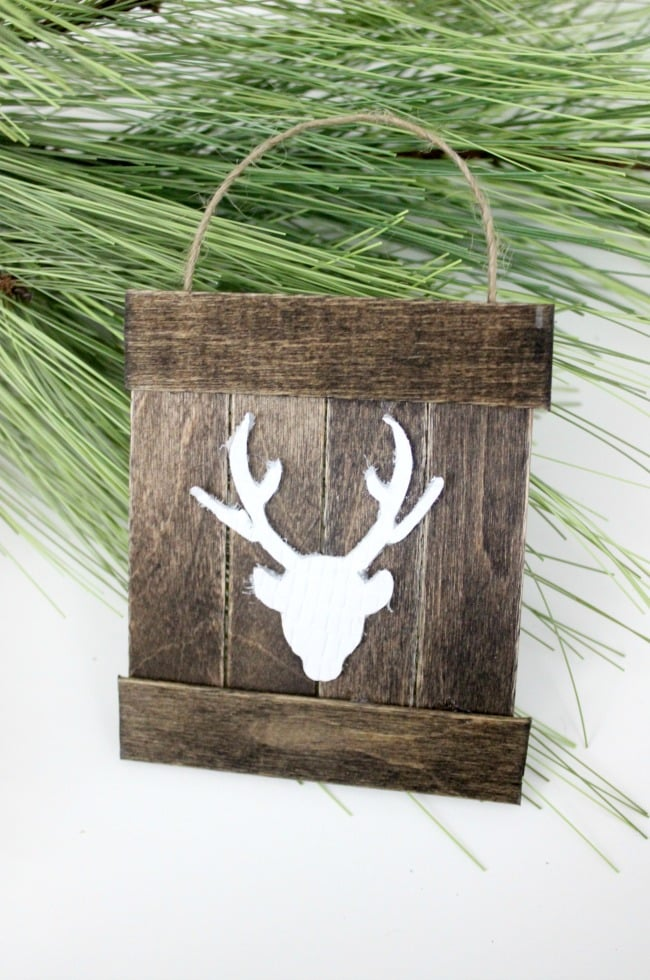 Mini Deer Pallet Ornament