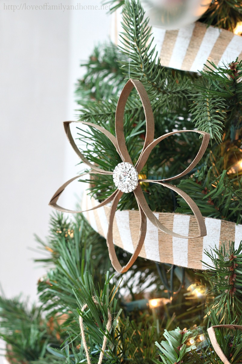 Paper Roll Poinsettia Ornament