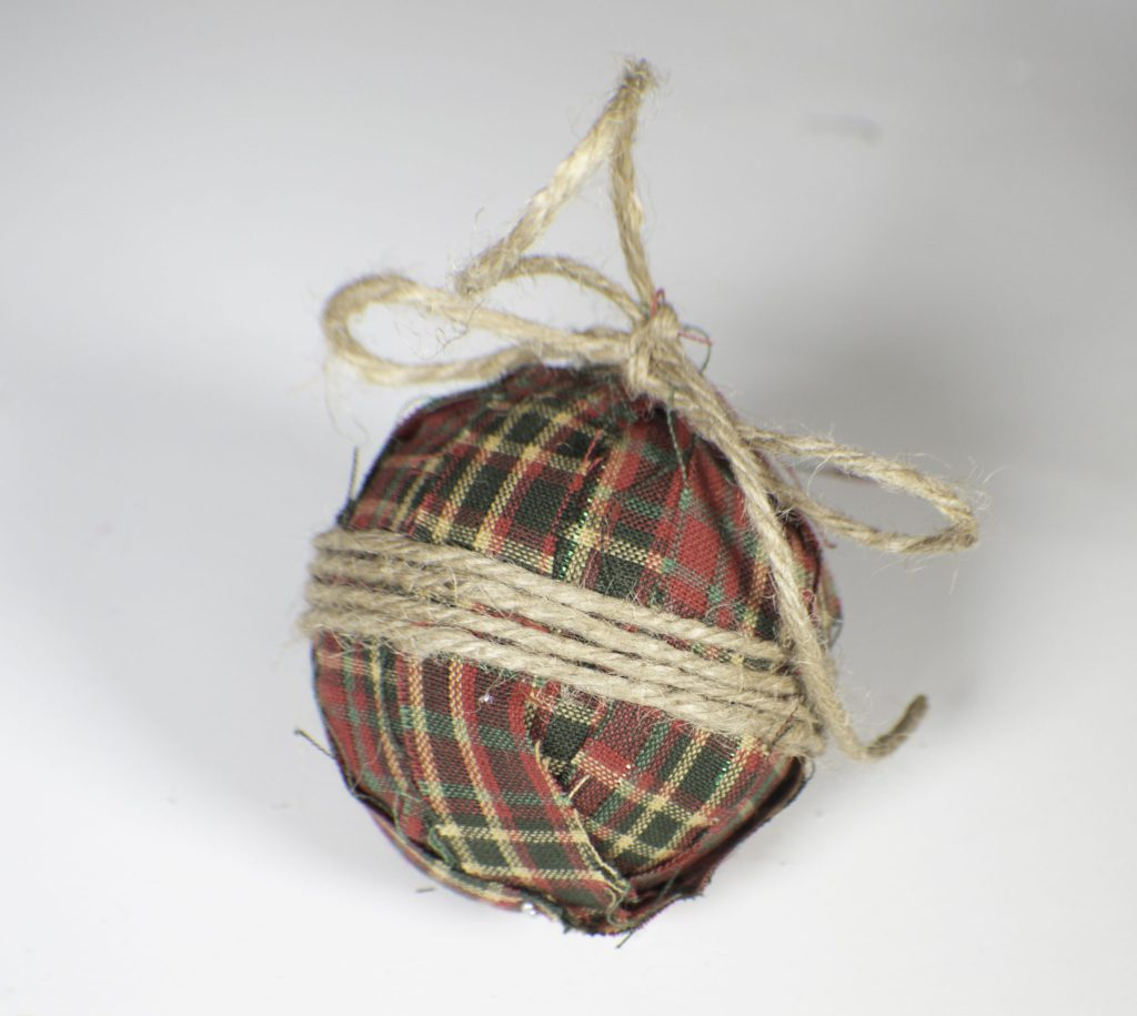 Rustic Fabric Christmas Ornament