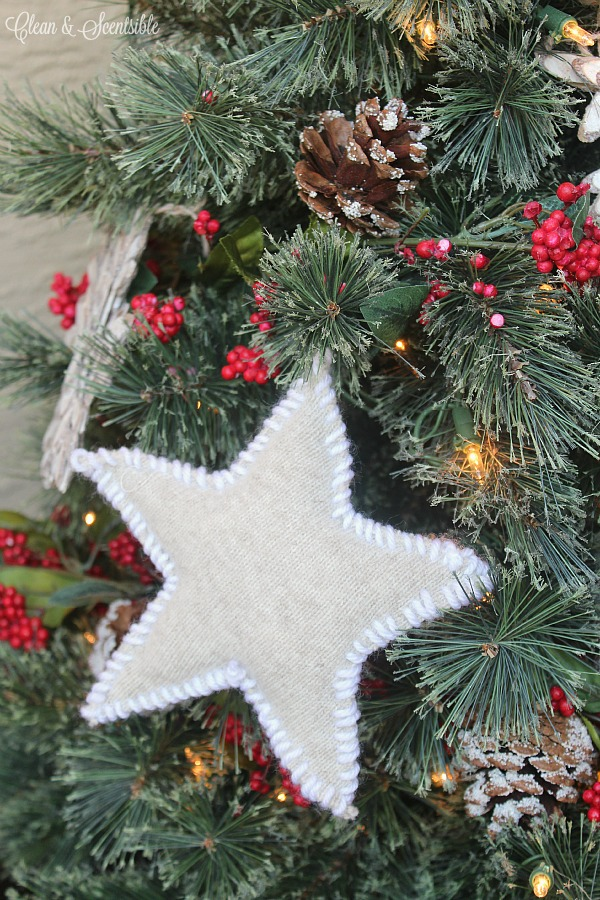 Rustic Sweater Star Ornament