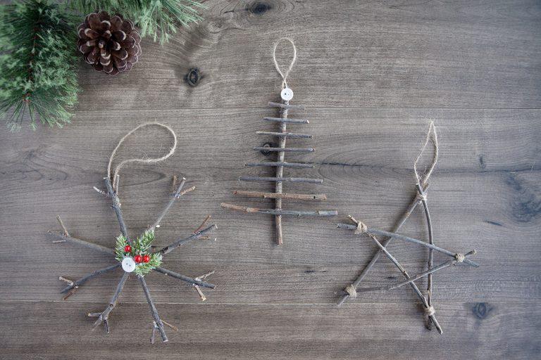 Twig Christmas Ornaments