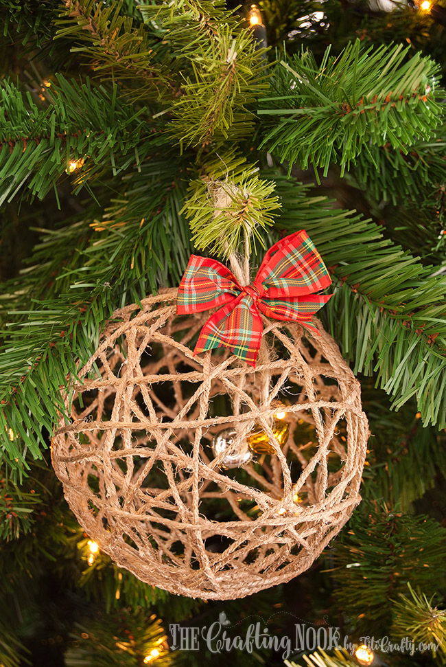 Twine Ball Christmas Ornament