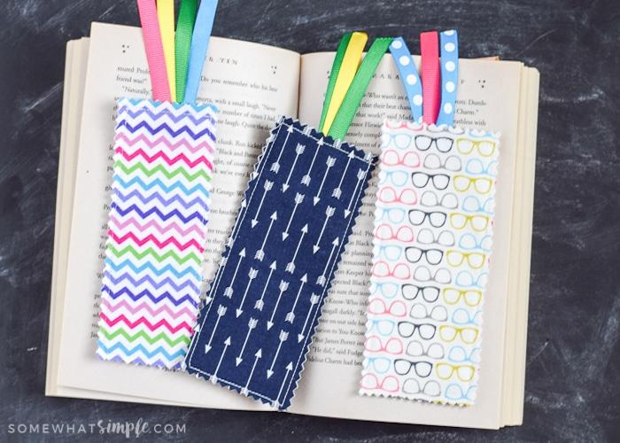 Scrap Fabric Bookmarks