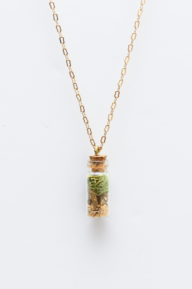 Faux Terrarium Necklace