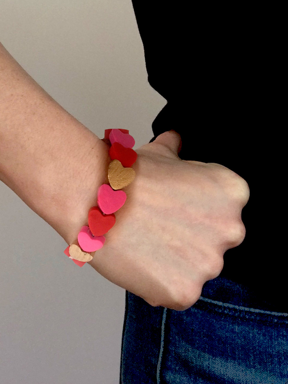 Polymer Clay Heart Bracelet