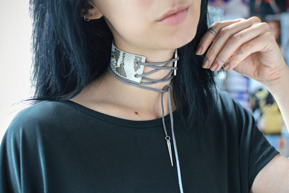 lace corset choker