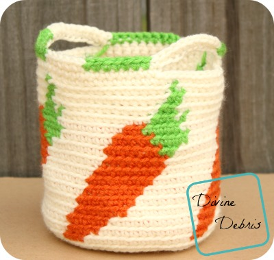 Cute Carrots Crochet Basket Pattern