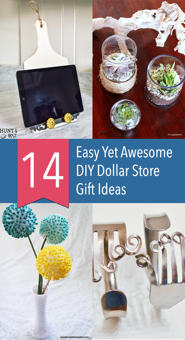 14 Easy Yet Awesome DIY Dollar Store Gift Ideas