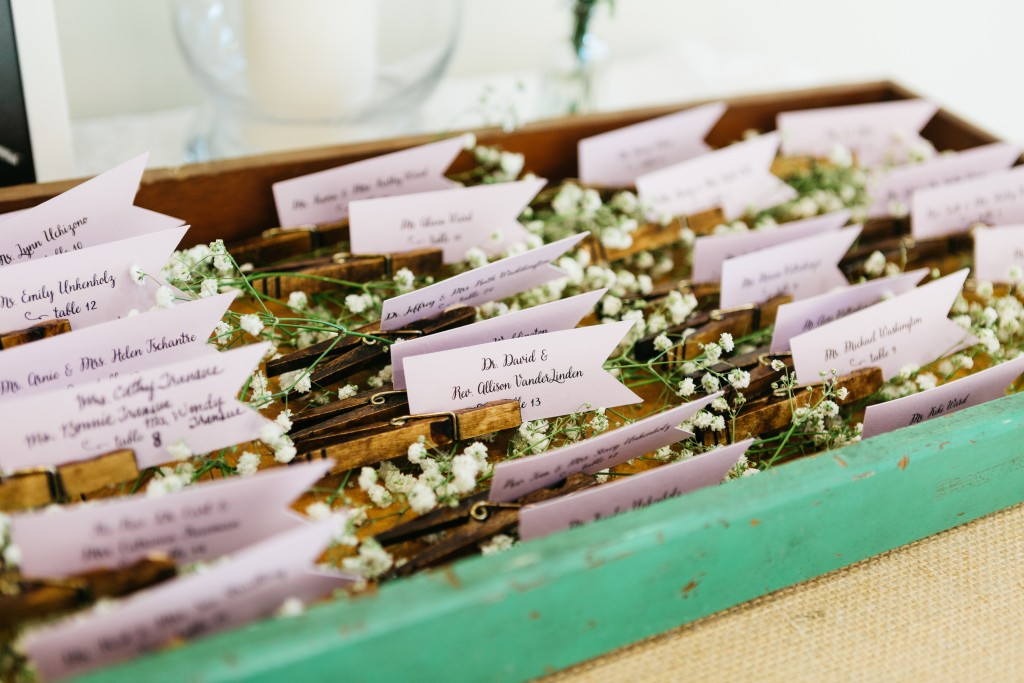Clothespin Place Card Holders