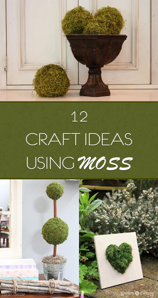 12 Easy Craft Ideas Using Moss