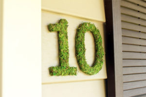 Moss House Numbers