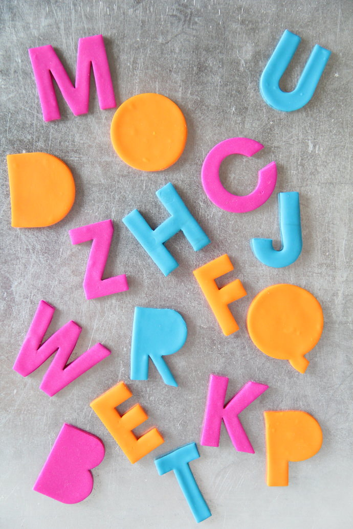 Clay Alphabet Magnets