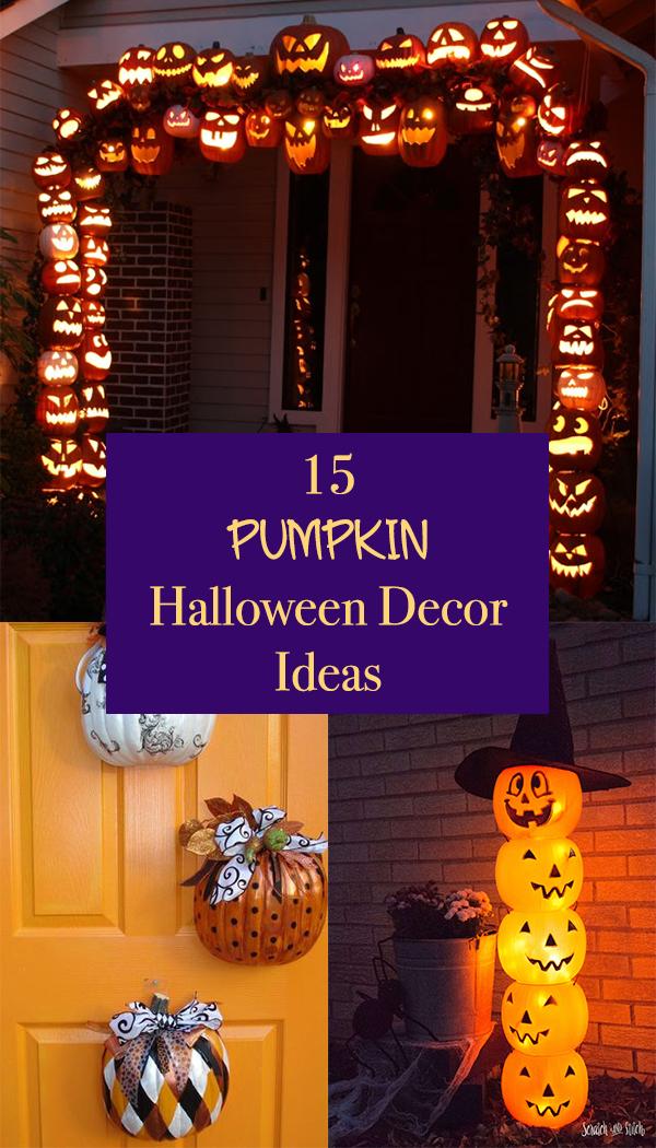 15 Pumpkin Halloween Decor Ideas