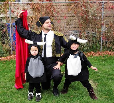Baby Bulls and Matador Costumes