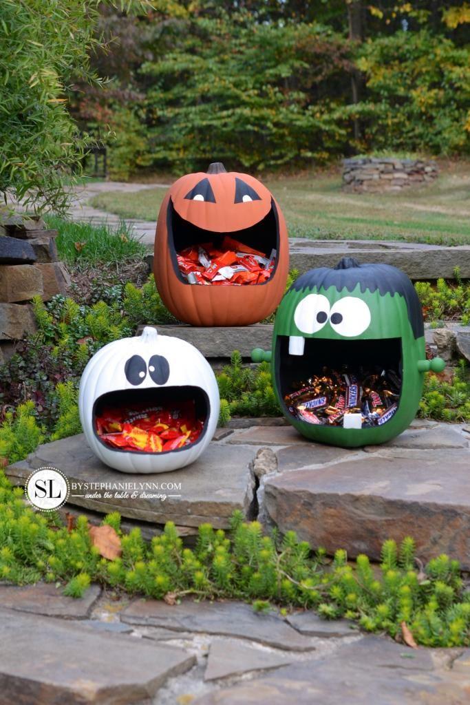 Pumpkin Candy Holders