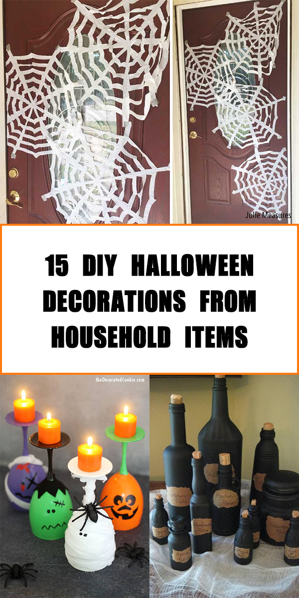 15 Cheap and Easy DIY Halloween Decorations from Household Items