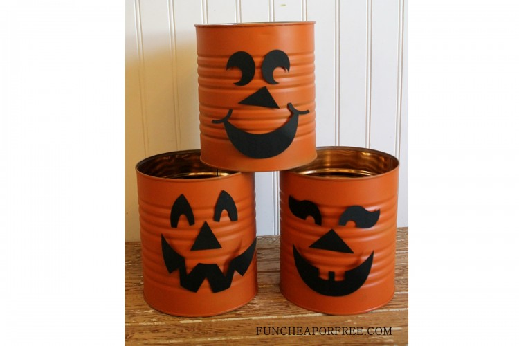 Tin Can Jack-O-Lanterns