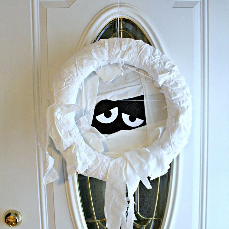 Toilet Paper Mummy Wreath