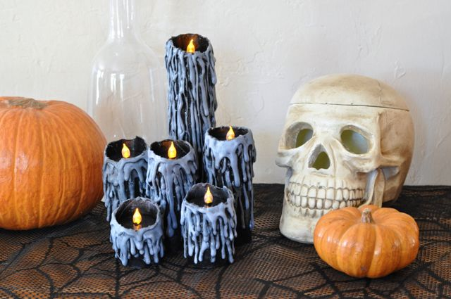 Toilet Paper Roll Candles