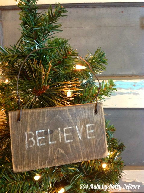 Rustic Wood Christmas Ornament Signs