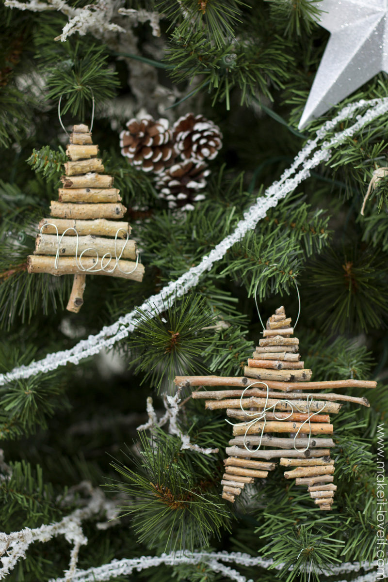 Twig and Wire Ornaments