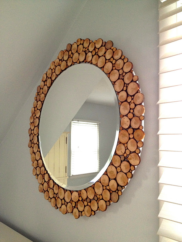 Wood Slice Mirror