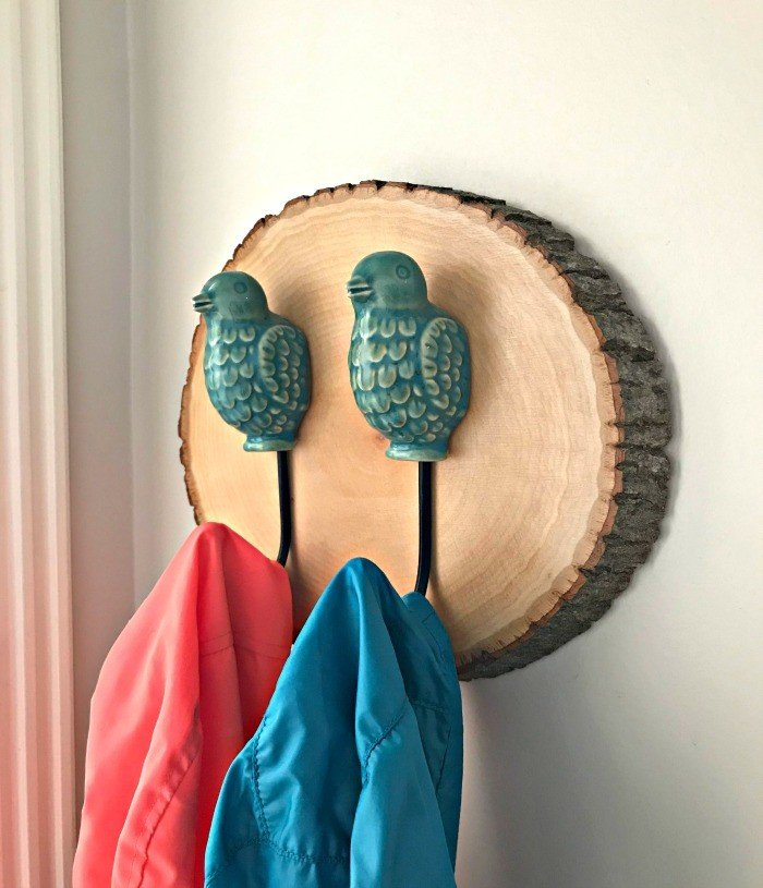 Wood Slice Wall Hook