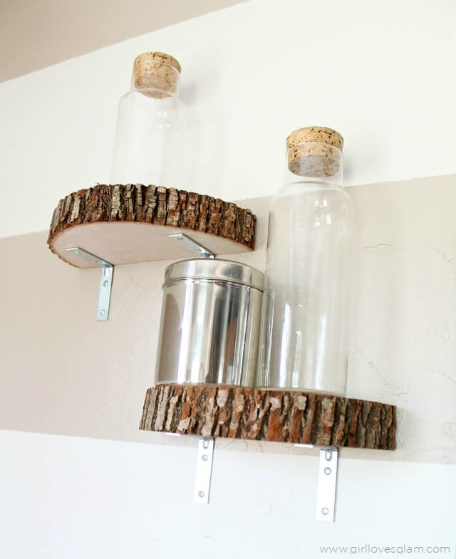 Wood Slice Shelves