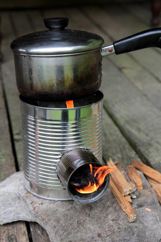 Tin Can Portable Rocket Stove