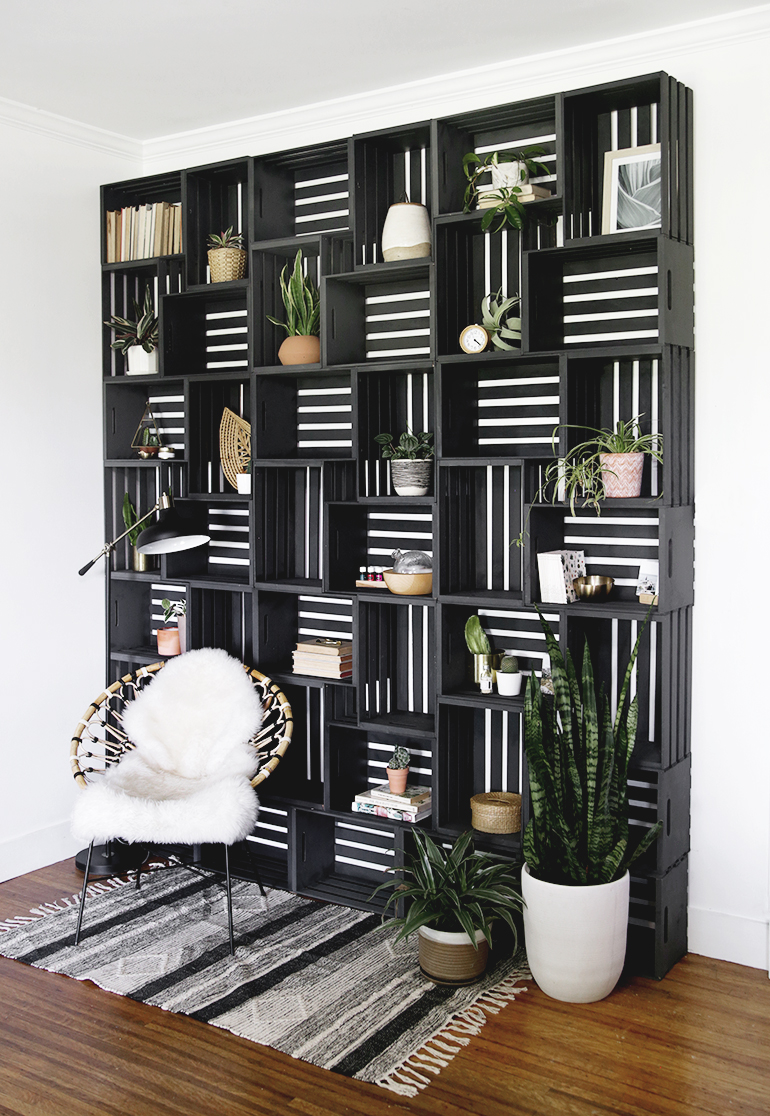 Crate Shelf Statement Wall