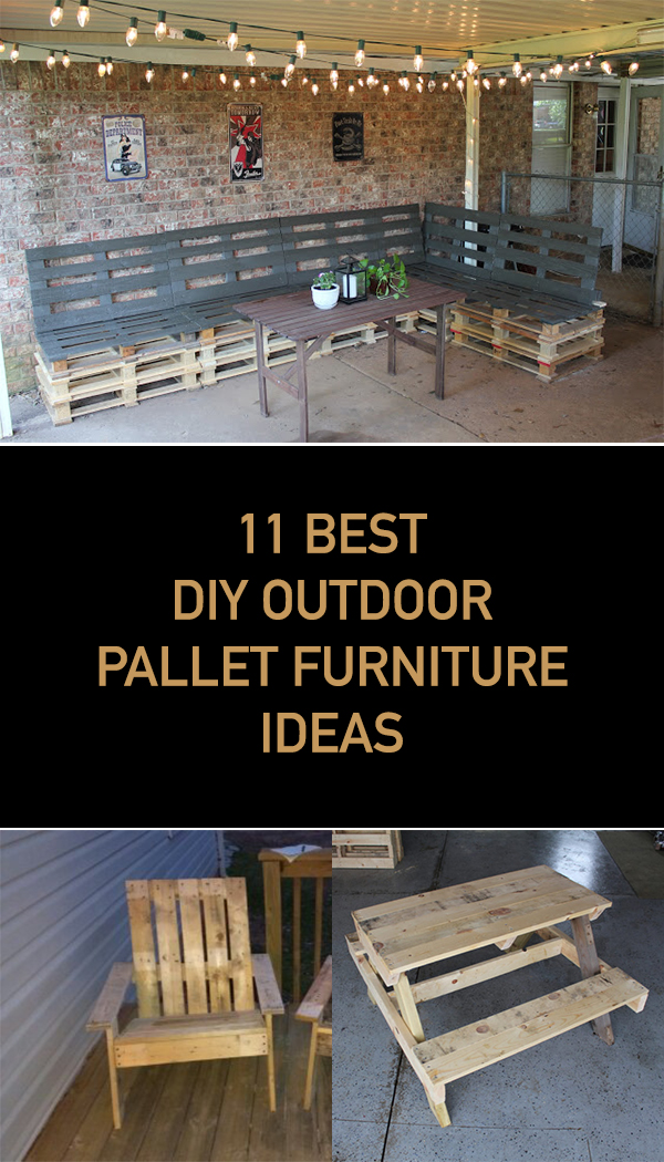 11 Best DIY Outdoor Pallet Furniture Ideas