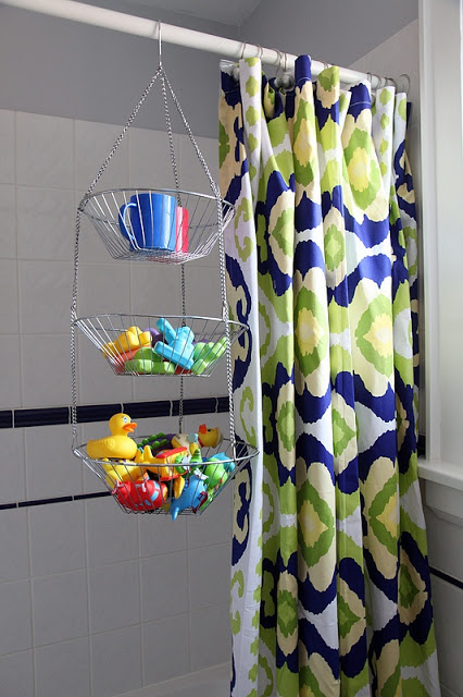 Hanging Fruit Basket For Bathtub Toy Storage