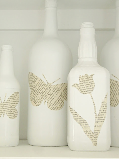 Book Page Bottles