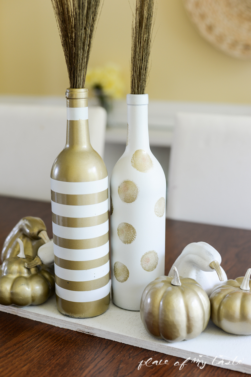 Fall Wine Bottle Centerpiece