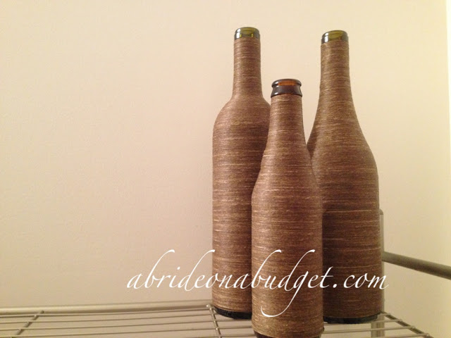 Twine-Wrapped Wine Bottle Centerpieces