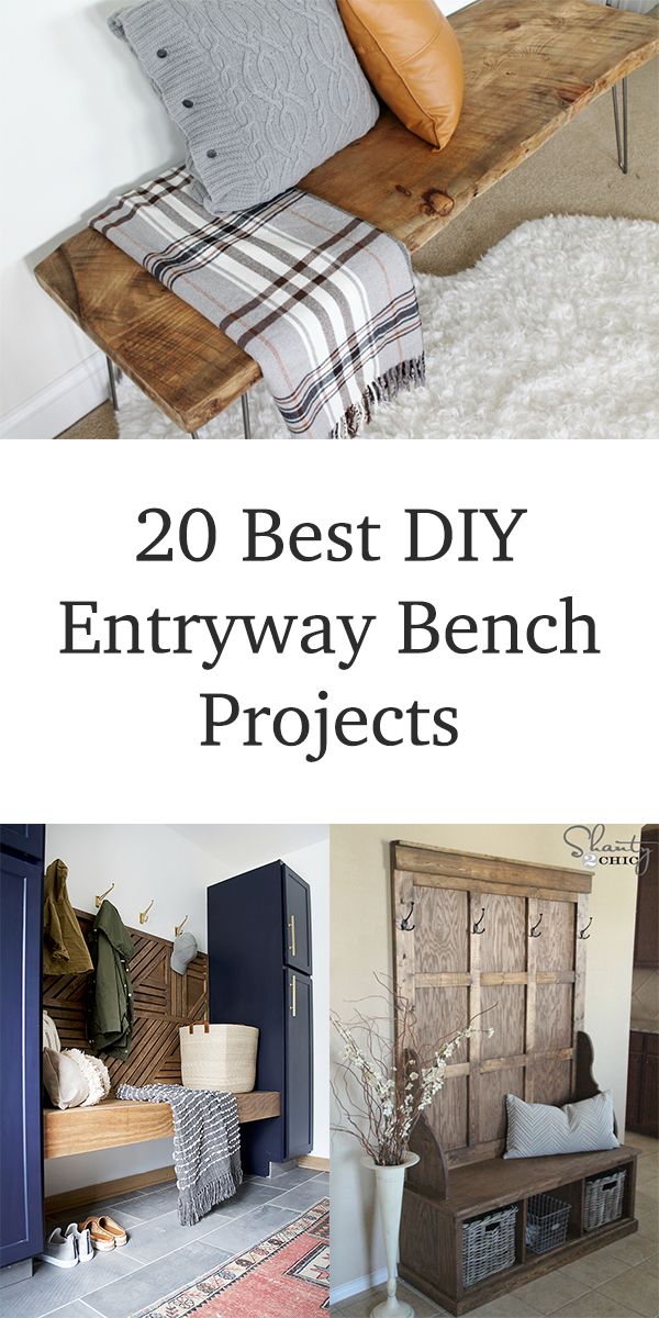 20 Best DIY Entryway Bench Projects